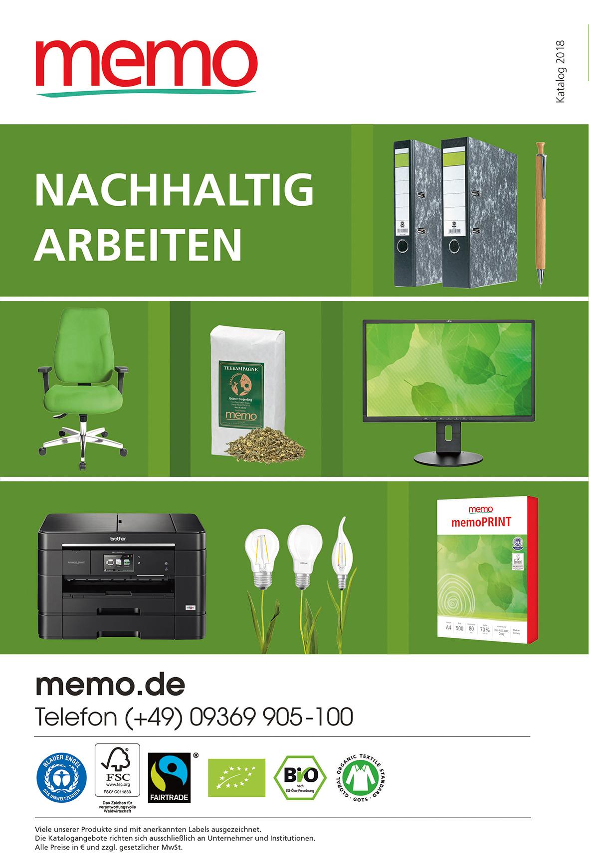 Memo Katalog Trio Für Gewerbekunden Memoworldde